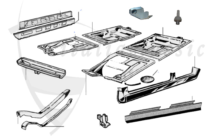 Alfa Romeo GiuliaBerlinaBertoneSpider Body Parts - Alfa romeo body panels
