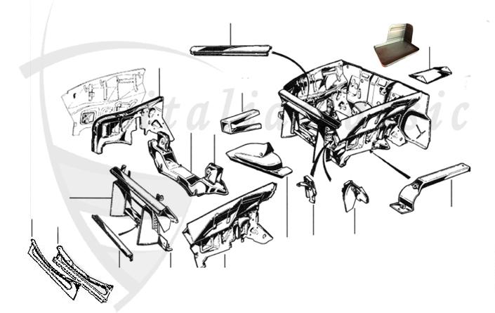 Alfa Romeo GiuliaBerlinaBertoneSpider Body Parts - Alfa romeo spider parts