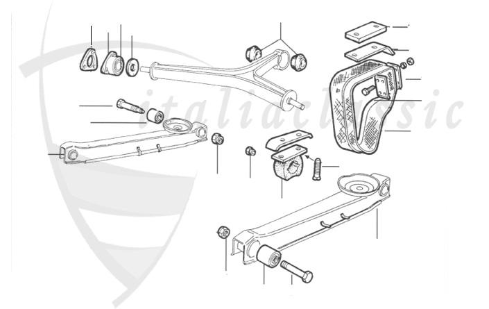 alfa romeo gtv6 rear suspension