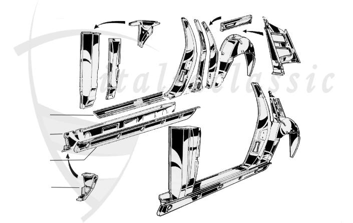 Alfa Romeo Montreal Body Parts Panels Duetto Automobile GmbH - Alfa romeo body panels