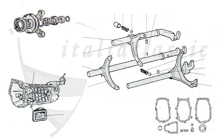 Bmw M54 Rocker Cover Gasket Set also 187934 Gearbox Diagram as well Front Suspension 939 additionally Spider 105 115 1445 together with Befestigungsmutter Kettenrad Nocke. on alfa romeo spider car cover