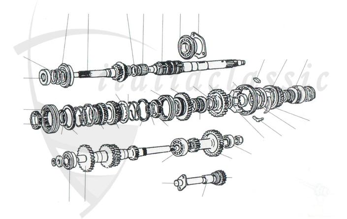 Fiat 124 Spider Antrieb Getriebe Kupplung