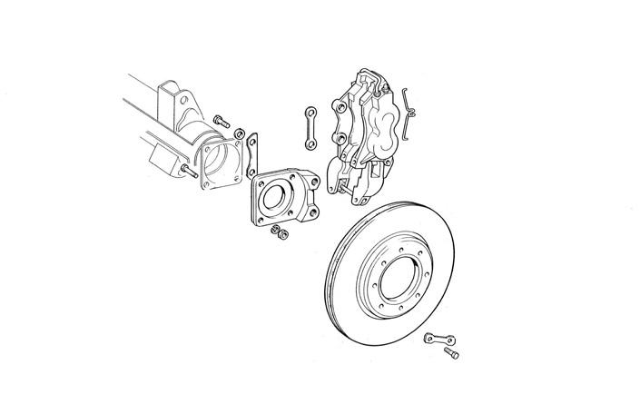 fiat 124 spider brake system