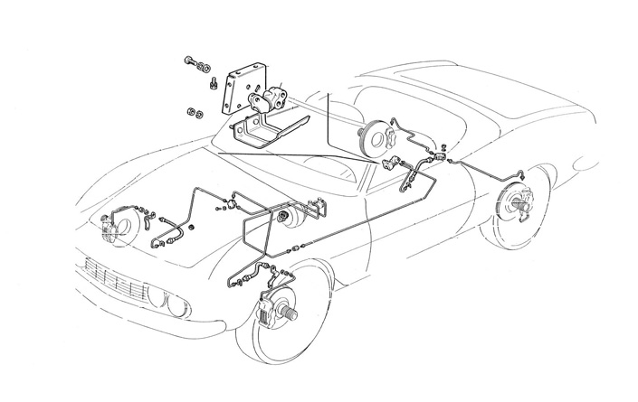 Fiat Dino Coupe Spider Suspension Brake System