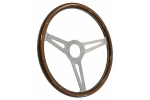 STEERING WHEEL CLASSICO 380mm HORN HOLE 60mm,FIXING HOLES 74mm